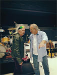Keith at rehearsals in Adelaide, talking to Dave Natale