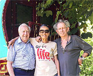 Alan Clayton, Johnny Clayton, Anita, Keith at Keith's house, July 2014