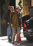 Mick, checking out of the Carlyle Hotel, Wednesday, March 25, 2015