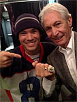 Before the show - Charlie with a 2009 Lakers ring with Chucky Klapow, Chicago, United Center, June 3 2013