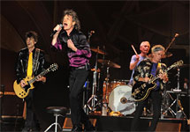 The Rolling Stones on stage in Nashville, Tennessie - photo by John Partipilo / The Tennessean - June 17, 2015