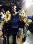 The Rolling Stones in Nashville, Tennessie - Bernard backstage with Sheryl Crow and Kelly McGrath - June 17, 2015