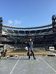 Mick checking out the new stage, San Diego, May 24, 2015