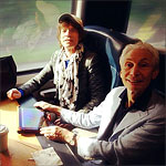 Before the show - They are on their way to the gig! - Washington, June 24 2013 - Mick and Charlie on the train to DC: Had a great train ride to Washington DC yesterday. Looking forward to tonight's show. It's been a fantastic tour, thank you to everyone who came to see us!