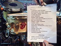 The Stones on stage at the Adelaide Oval Adelaide - The setlist, October 25, 2014