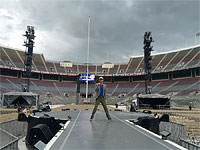 Mick: It's gonna rain on our soundcheck in Columbus! Columbus, Ohio, May 30, 2015