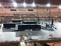 The Rolling Stones Stockholm, June 30, 2014 - stage-construction at Tele2 Arena