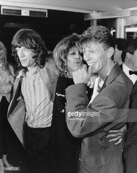 David, Tina and Mick - picture by David Hogan, GettyImages
