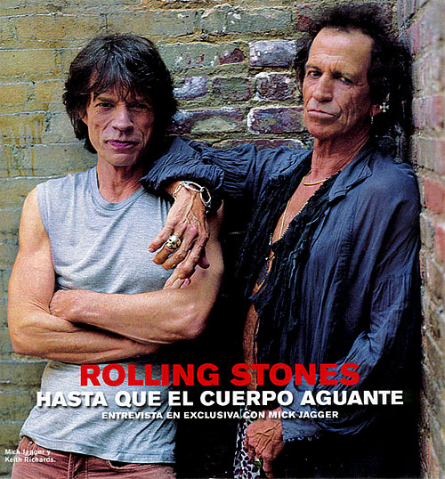 Mick Jagger and Keith Richards - the Glimmer Twins