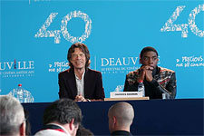 Mick presented his film Get On UP at the Deauville Festival