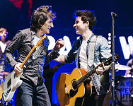 Ronnie on stage with Paul Wellerm Kelly Jones, at Teenage Cancer Trust at Royal Albert Hall London, March 31, 2017