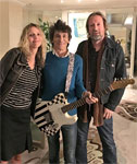 Brian Kehew and Anna Maria presented Ronnie with a replica of his first Birds guitar, January 31, 2016