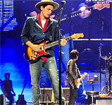 The Rolling Stones on stage with John Mayer at Anaheim, CA, May 15 2013 - 50 Years and counting tour
