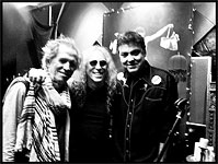 Keith and Waddy Wachtel at Doug Pettibone session in LA, March 24, 2013
