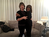 Mick with Tina Turner backstage - The Rolling Stones No Filter Tour - Z�rich 2017