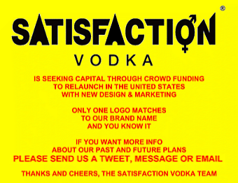 Satisfaction Vodka is seeking capital through crowd funding to relaunch in the US with new design + marketing